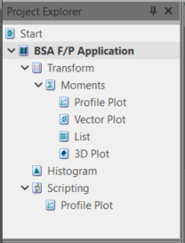 BSA software project explorer